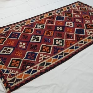 Rug# 11231, old Qashqai Kilim, mid 20th c, Persia, size 290x138 cm, RRp $1500, on special $550