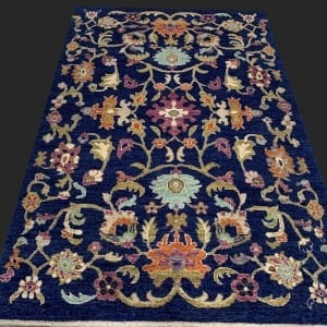 Rug# 26060, Peshawar Chobrang, inspired by 15th c Safavid floral design , HSW pile, Pakistan, size 180x120 cm