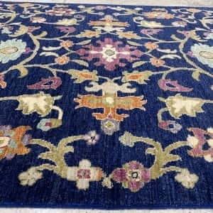 Rug# 26060, Peshawar Chobrang, inspired by 15th c Safavid floral design , HSW pile, Pakistan, size 180x120 cm (4)