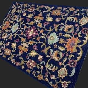 Rug# 26060, Peshawar Chobrang, inspired by 15th c Safavid floral design , HSW pile, Pakistan, size 180x120 cm RRP $2500