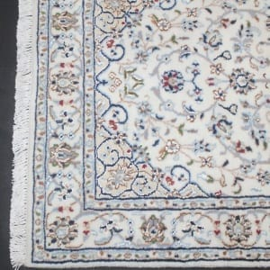 Rug #31004, very fine Amritsar, Nain design inspired, NZ wool and silk pile, 400,000 knots per square metre, India, Size 137x71cm, $890 on Special $380 (2)