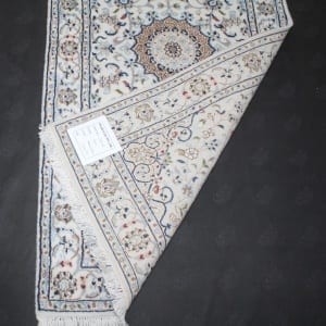 Rug #31004, very fine Amritsar, Nain design inspired, NZ wool and silk pile, 400,000 knots per square metre, India, Size 137x71cm, $890 on Special $380 (3)