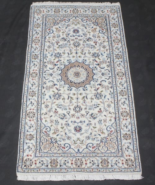 Rug #31004, very fine Amritsar, Nain design inspired, NZ wool and silk pile, 400,000 knots per square metre, India, Size 137x71cm, $890 on Special $380