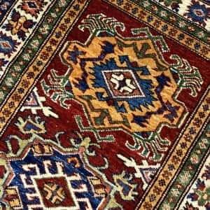 Rug# 24338, Afghan Turkaman weave 19th c Tabriz design, hand spun wool vegetable dyes, 243x80 cm RRP $1800, Special $750 (3)