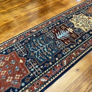 Rug# 24712, Afghan Turkaman weave ancient Turkish design, hsw, vegetable dyes, size 239x81 cm RRP $2100, Special $850 (2)