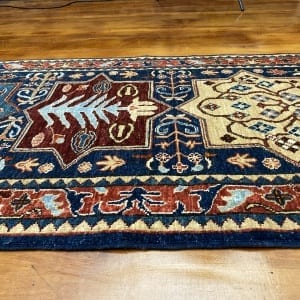 Rug# 24712, Afghan Turkaman weave ancient Turkish design, hsw, vegetable dyes, size 239x81 cm RRP $2100, Special $850 (3)