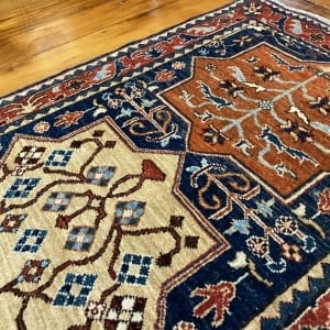 Rug# 24712, Afghan Turkaman weave ancient Turkish design, hsw, vegetable dyes, size 239x81 cm RRP $2100, Special $850 (4)
