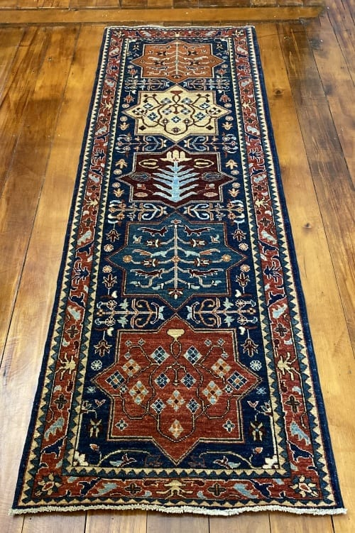 Rug# 24712, Afghan Turkaman weave ancient Turkish design, hsw, vegetable dyes, size 239x81 cm RRP $2100, Special $850