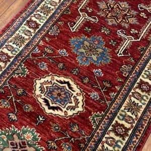 Rug# 24748, Afghan Chechen weave Super-Kazak, HSW, V.D, size 294x84 cm (2)