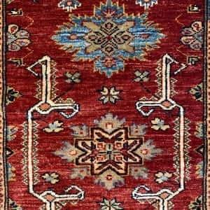Rug# 24748, Afghan Chechen weave Super-Kazak, HSW, V.D, size 294x84 cm (3)