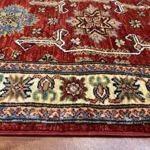 Rug# 24748, Afghan Chechen weave Super-Kazak, HSW, V.D, size 294x84 cm (4)