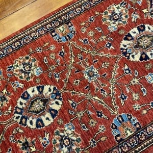 Rug# 24803, Afghan Turkaman weave Herati gol, HSW, V.D, size 287x82 cm RRP $2500, Special $1000 (2)