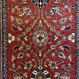 Rug# 24803, Afghan Turkaman weave Herati gol, HSW, V.D, size 287x82 cm RRP $2500, Special $1000 (3)