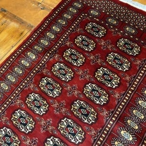 Rug# 24835, Superfine Pakistan Turkamman design, Lahore, 20x20 quality, size 303x81 cm RRP $2900, Special $1250 (3)