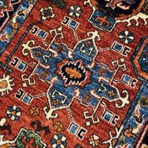 Rug# 24955, Afghan Turkaman weave Heriz design, HSW, V.D, size 296x84 cm RRP $2500, Special $1000 (3)