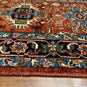 Rug# 24955, Afghan Turkaman weave Heriz design, HSW, V.D, size 296x84 cm RRP $2500, Special $1000 (4)