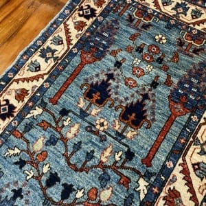 Rug# 24958, Afghan Turkaman weave 17th c Tree of life design, hsw, vegetable dyes, size 286x83 cm RRP $2200, Special $900 (3)