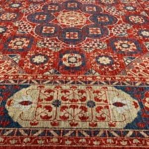 Rug# 26066, Peshawar Chobrang, inspired by 15th c Mamluk design, HSW pile, Pakistan, size 302x243 cm (2)