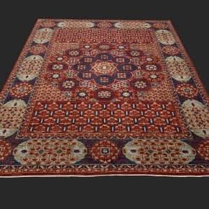 Rug# 26066, Peshawar Chobrang, inspired by 15th c Mamluk design, HSW pile, Pakistan, size 302x243 cm (3)