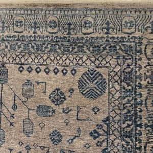 Rug# 26069, Peshawar Chobrang, inspired by 19th c Khotan design , HSW pile, Pakistan, size 295x244 cm (3)