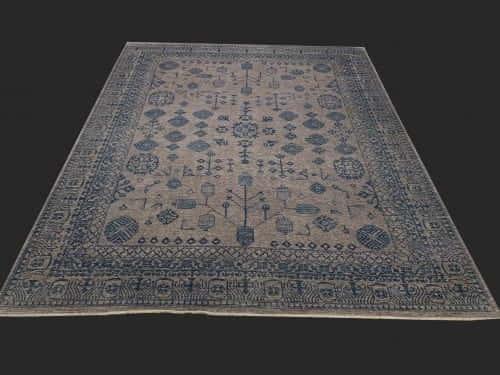 Rug# 26069, Peshawar Chobrang, inspired by 19th c Khotan design , HSW pile, Pakistan, size 295x244 cm