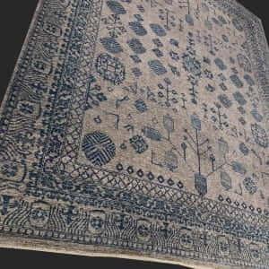 Rug# 26069, Peshawar Chobrang, inspired by 19th c Khotan design , HSW pile, Pakistan, size 295x244 cm RRP $6500