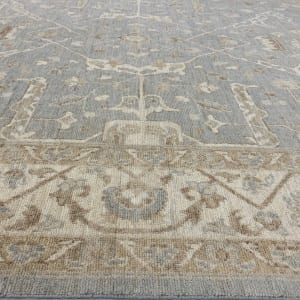 Rug# 26071, Peshawar Chobrang, 19th c Ziegler design , HSW pile, Pakistan, size 307x234 cm (4)