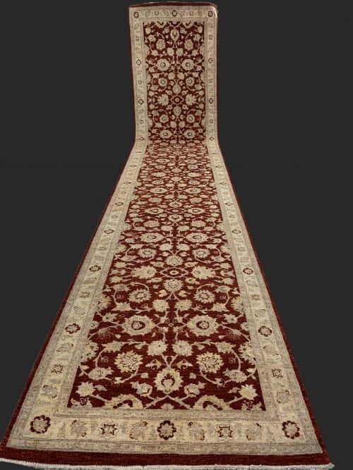 Rug# 26072, Peshawar Chobrang, 19th c Ziegler design , HSW pile, Pakistan, size 620x120 cm