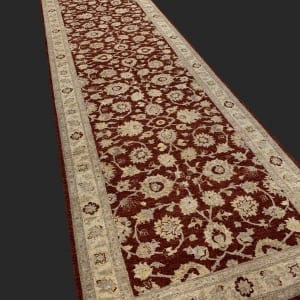 Rug# 26072, Peshawar Chobrang, 19th c Ziegler design , HSW pile, Pakistan, size 620x120 cm RRP $6500