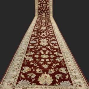 Rug# 26073, Peshawar Chobrang, 19th c Ziegler design , HSW pile, Pakistan, size 544x80 cm