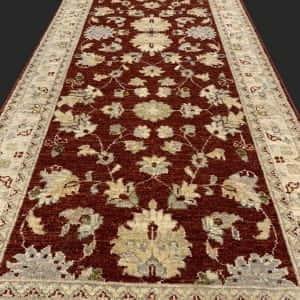 Rug# 26073, Peshawar Chobrang, 19th c Ziegler design , HSW pile, Pakistan, size 544x80 cm RRP $5950