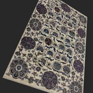 Rug# 26075, Peshawar Chobrang, inspired by 19th c Suzani design , HSW pile, Pakistan, size 187x124 cm RRP $2700