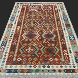 Rug# 26088, Afghan Maimaneh Kilim, Qazni wool & vegetable dyes, Size 299x213 cm