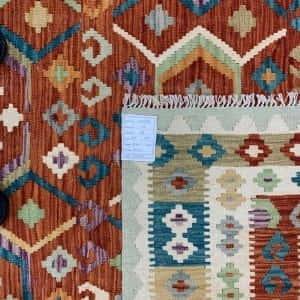 Rug# 26089, Afghan Maimaneh Kilim, Qazni wool & vegetable dyes, Size 300x220 cm (2)