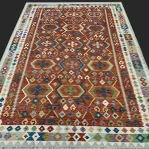 Rug# 26089, Afghan Maimaneh Kilim, Qazni wool & vegetable dyes, Size 300x220 cm