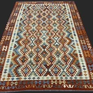 Rug# 26090, Afghan Maimaneh Kilim, Qazni wool & vegetable dyes, Size 291x208 cm