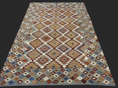 Rug# 26091, Afghan Maimaneh Kilim, Qazni wool & vegetable dyes, Size 298x210 cm