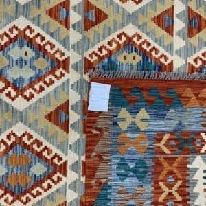 Rug# 26093, Afghan Maimaneh Kilim, Qazni wool & vegetable dyes, Size 298x207 cm (2)