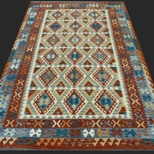 Rug# 26093, Afghan Maimaneh Kilim, Qazni wool & vegetable dyes, Size 298x207 cm