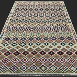 Rug# 26094, Afghan Maimaneh Kilim, Qazni wool & vegetable dyes, Size 293x212 cm