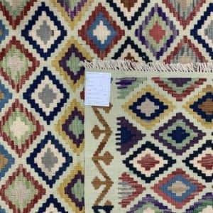 Rug# 26095, Afghan Maimaneh Kilim, Qazni wool & vegetable dyes, Size 295x214 cm (2)