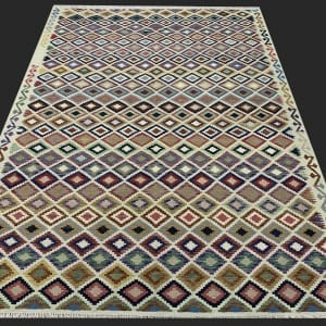 Rug# 26095, Afghan Maimaneh Kilim, Qazni wool & vegetable dyes, Size 295x214 cm