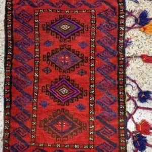 Rug# 26159, vintage Afghan Torbeh or Grain-bag, Balouchi nomadic weave, Size 75x50 cm