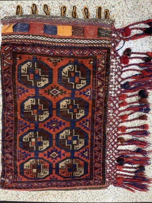 Rug# 26163, vintage Afghan Torbeh or Grain-bag, Balouchi nomadic weave, Size 75x50 cm
