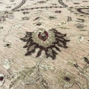 #19501 Afghan weave Peshawar carpet , Hand spun wool pile, natural vegertable dyes, very durable, 19th C design, size 430x300 cm (2)