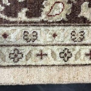 #19501 Afghan weave Peshawar carpet , Hand spun wool pile, natural vegertable dyes, very durable, 19th C design, size 430x300 cm (3)