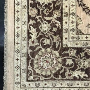 #19501 Afghan weave Peshawar carpet , Hand spun wool pile, natural vegertable dyes, very durable, 19th C design, size 430x300 cm (4)