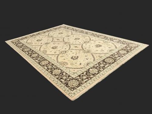 #19501 Afghan weave Peshawar carpet , Hand spun wool pile, natural vegertable dyes, very durable, 19th C design, size 430x300 cm (6)