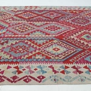 Rug# 25576, Superfine Afghan flatweave Kilim, modern design, veg dyes, size 237x173 cm, RRP $1200, on special $480 (3)