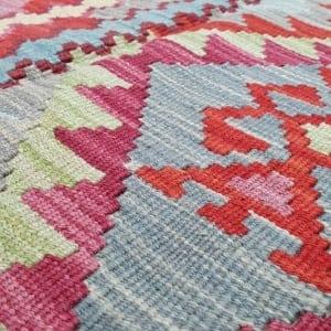 Rug# 25576, Superfine Afghan flatweave Kilim, modern design, veg dyes, size 237x173 cm, RRP $1200, on special $480 (4)